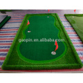 Golf artificial interior de alta calidad que pone verde