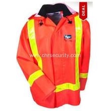 Men's Flame-Resistant High Visibility PVC Work Jacket