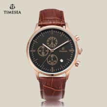 Klassische Mode Uhr Japan Quarzuhr mit Lederband 72172