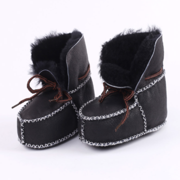 Baby's Shoes In Winter