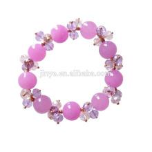 Bracelet perlé en pierre fait main en cristal fait main de Bling Bling pour la femme