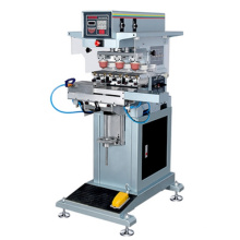 Automatic Three Color Shuttle Label Pad Printing Machine