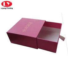 Boîte d'emballage de bijoux de tiroir à glissière en carton rouge