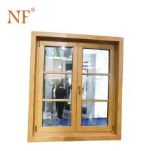 luxury aluminum cladding wood window for hotel and villas