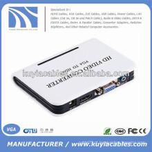 VGA para HDMI Conversor de vídeo HD Ethernet com áudio