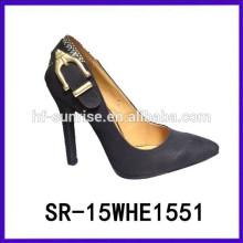 SR-15WHE1551 calza las nuevas mujeres de las mujeres del verano de las mujeres calza las sandalias baratas del alto talón del precio 2015