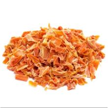 Grânulo de cenoura com fatia de cenoura desidratado