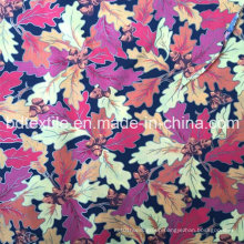 Silver Printing Leaves Design Fabric for Packing