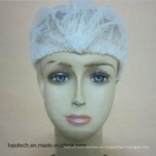 Desechable no tejido Mob Cap / Clip Cap / Hairnet / Surgical Cap