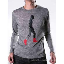 Патч Мода Хлопка Изготовленный На Заказ Вышивка Оптовая Продажа Мужчины Футболка