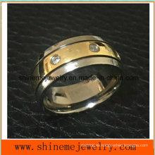 Anillo de dedo Titanium del acero inoxidable del diseño único (TR1827)