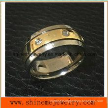 Unique Design Stainless Steel Titanium Finger Ring (TR1827)