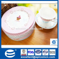 2016 популярных чашка торт розовый стиль 2 уровня фарфора торт пластины и набор серверов