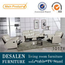 1+2+3 Manual Type Leather Recliner Sofa (1017)