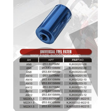 Universal fuel filter for cars