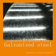 Paillette régulière et zingage à chaud plonger en tôles et bobines en acier galvanisé
