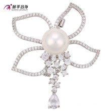 00011 online shopping top grade new arrival product elegant safety pin pearl brooch korea style jewelry wholesale China