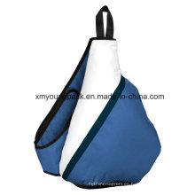 Moda 600d poliester Triangle Sling mochila