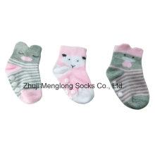 Moda chicas lindas infantil 3D calcetines algodón Material