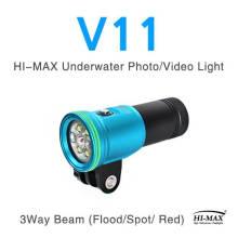 Hohe Intensität 2400lumen Tauchen Taschenlampe Fotografie Fackel