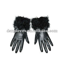Lady Leather Gloves with fur wrist