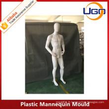 Moule mannequin en plastique féminin incassable en blanc mat