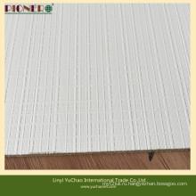 Белый цвет полиэфирной древесины с текстурированной поверхностью