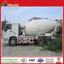 Caminhão do misturador de cimento do reboque do petroleiro de 12 Cbm semi