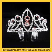 Свадебная тиара и корона с расческой для волос