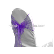 фиолетовый, vogue кристалл органзы стул створки галстук обратно, лук галстук, узел, Чехлы на стулья свадьбы и скатерть