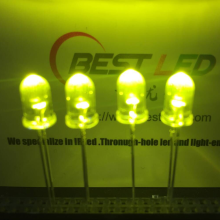 LED ultra-brillante 5mm 565nm 570nm LED jaune-verte