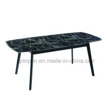 Черный мрамор табурет рабочей обеденный стол с 4 ногами (СП-GT434)