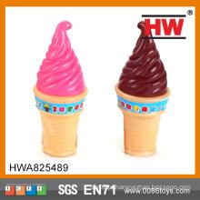 Alta qualidade crianças plástico brinquedo sorvete forma bolha