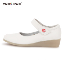 white leather flat sole best hospital medical shoes women