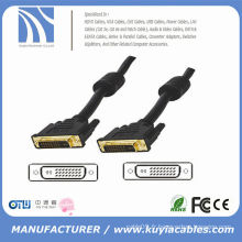 Haute vitesse Câble plaqué or DVI à DVI 24 + 1 mâle à mâle 3m 5m 10m