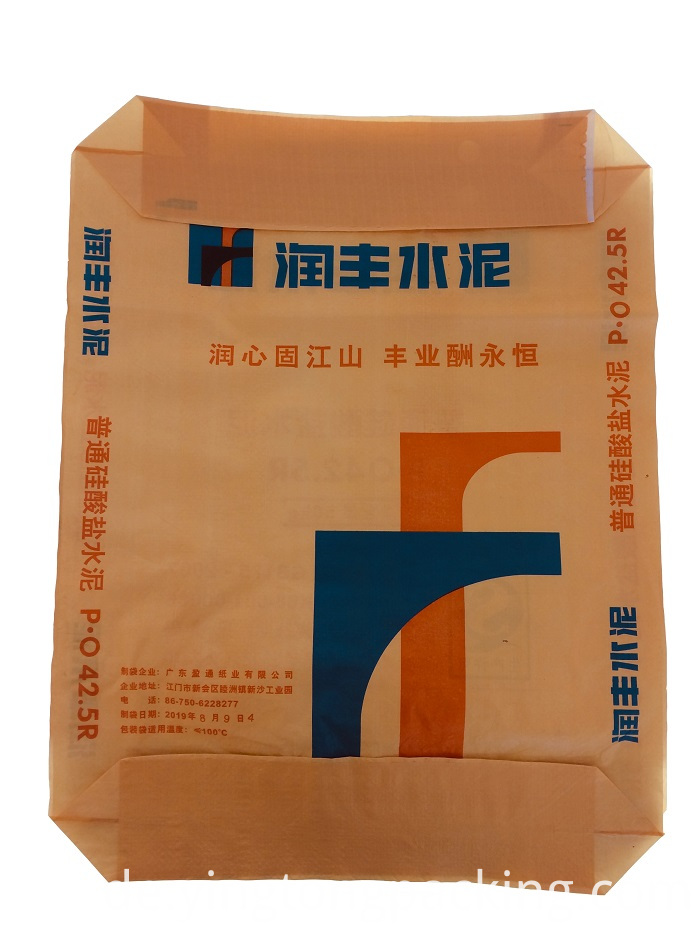 Monolayer Plastic Material Knit Building Cement Pouch