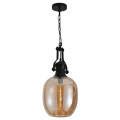Suspension lumineuse de style industriel
