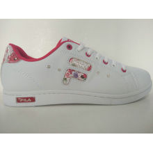 Zapatos blancos impresos flor blanca de la manera de las mujeres
