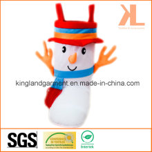 Polyester High Quality Christmas Decoration Snowman Style Brown Candy Boot