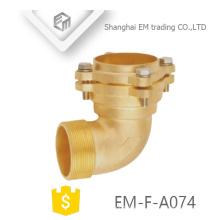 EM-F-A074 Tipo de brida de latón corto codo accesorio de tubería