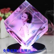Creative Crystal Cube Cadre photo pour cadeau d'anniversaire (KS19845)