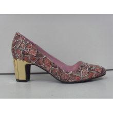 2016 Fashion High Heel Chuncky Ladies Dress Shoes (HCY03-086)