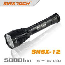 Maxtoch SN6X-12 5000 Lumen LED antorcha linterna Super brillante cálido blanco LED