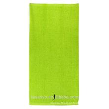 100% algodón verde bordado toallas de playa muy suaves