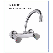 Bd1001b Double Knobs Brass Kitchen Faucet