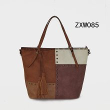 2017 Guangzhou New Fashion Multi Color Women PU Tote Handbag