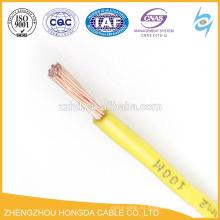 Cable aislado de PVC 14 12 10 8 6 4 1 awg wire