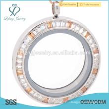 Медальон из нержавеющей стали, стеклянный медальон, серебряный медальон из стекла
