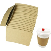Disposable paper cup holder Coffee cup holder custom Paper cup sleeve