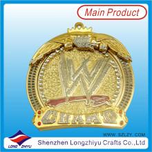 Personalizada Die Casting Zinc Alloy Medalla de Metal con Cristal